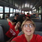 Photo Gallery: Riding on the Bus on the Way to Team Day
